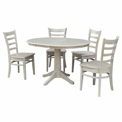 """Montauk 36'' Dining Tables Intended For Most Popular 36"""" Round Extension Dining Table With 4 Emily Chairs (View 9 of 25)"""