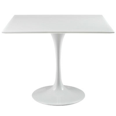 """Montauk 36'' Dining Tables Throughout Most Popular Tulip 36"""" Square Wood Top Dining Table White Color (View 4 of 25)"""