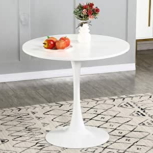 Most Current Amazon: Wenyu Round White Dining Table – Modern Dining With Granger (View 6 of 25)