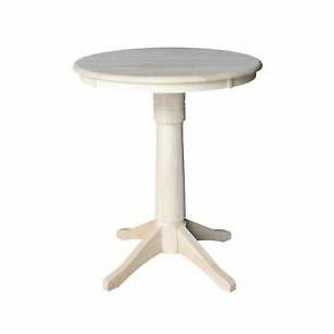 """Most Current Bar Height Pedestal Dining Tables Inside 30"""" Round Pedestal Dining Table – Unfinished Unfinished (View 10 of 25)"""