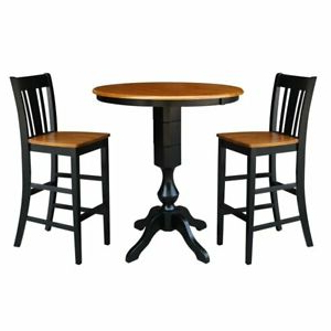 """Most Current Dankrad Bar Height Dining Tables Intended For 36"""" Round Extension Dining Table (View 8 of 25)"""