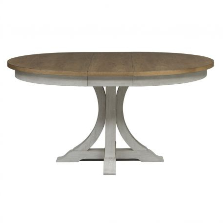 Most Current Dawna Pedestal Dining Tables Throughout Liberty Furniture Farmhouse Reimagined Pedestal Dining (View 4 of 25)