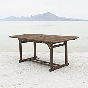 Most Current Folcroft Acacia Solid Wood Dining Tables Intended For Amazon : We Furniture Solid Acacia Wood Patio (View 4 of 25)