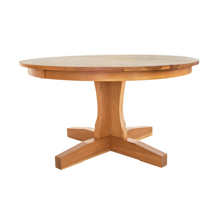 Most Current Gaspard Extendable Maple Solid Wood Pedestal Dining Tables With Shaker Dining Tables – Vermont Woods Studios (View 9 of 25)
