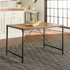"""Most Current Leonila 48'' Trestle Dining Tables Intended For Rustic Angle Iron & Barnwood Wood 48"""" Dining Table (View 19 of 25)"""