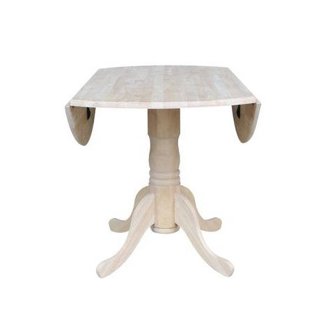 Featured Photo of Rubberwood Solid Wood Pedestal Dining Tables
