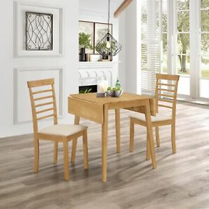"""Most Popular 72"""" L Breakroom Tables And Chair Set In Small Solid Wooden Drop Leaf Dining Table And 2 Chairs Set (View 8 of 25)"""