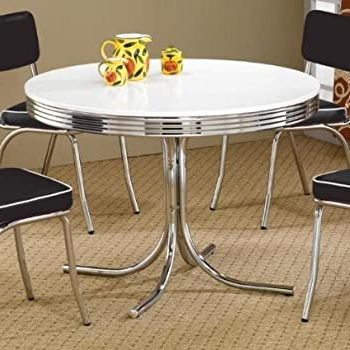 Most Popular Amazon – Coaster 50's Retro Nostalgic Style Oval In Classic Dining Tables (View 17 of 25)