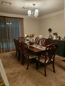 Most Popular Benji 35'' Dining Tables Pertaining To 8 Seater Excellent Condition Dining Table With Chairs (View 20 of 25)