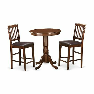 Most Popular Edvn3 Mah Lc 3 Pc Counter Height Dining Set – Small Inside Desloge Counter Height Trestle Dining Tables (View 10 of 25)