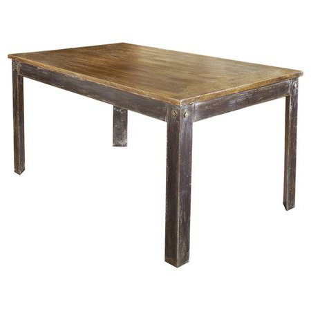 Most Popular Farmhouse Dining Table In Solid Mango Wood, Sandblasted With Alfie Mango Solid Wood Dining Tables (View 8 of 25)