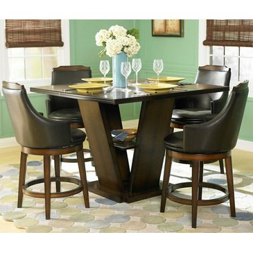 Featured Photo of Barra Bar Height Pedestal Dining Tables