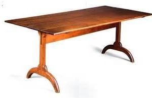 Most Popular Kara Trestle Dining Tables Intended For Harvard Shaker Trestle Table (View 19 of 25)