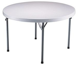 """Most Popular Lifetime Round Folding Table, 46"""" Plastic, White Granite Intended For Mode Round Breakroom Tables (View 11 of 25)"""