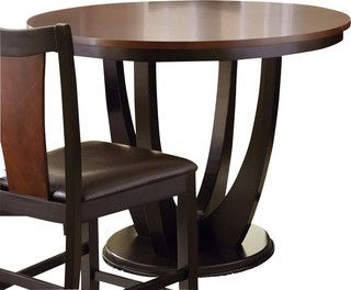 Most Popular Nakano Counter Height Pedestal Dining Tables Pertaining To Steve Silver Oakton 48 Inch Round Counter Height Table (View 22 of 25)