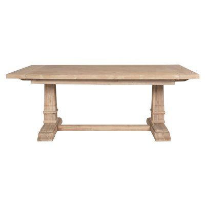 Featured Photo of Minerva 36'' Pine Solid Wood Trestle Dining Tables