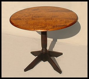 Most Popular Round Cherry Pedestal Table Within Gaspard Maple Solid Wood Pedestal Dining Tables (View 15 of 25)