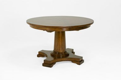 Most Popular Tabor 48'' Pedestal Dining Tables Pertaining To Bausman & Co (View 11 of 25)