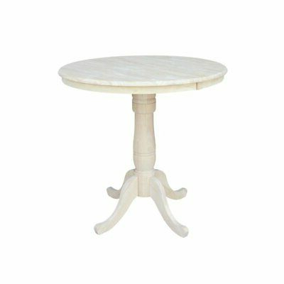 """Most Recent 36"""" Round Top Pedestal Table With 12"""" Leaf – (View 25 of 25)"""