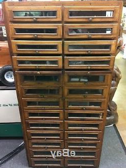 Most Recent Antique Wood 26 Drawer / Glass Front Apothecary General Within Candie (View 22 of 25)