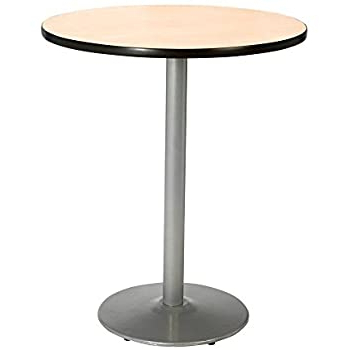 """Most Recent Bar Height Pedestal Dining Tables For Amazon: Kfi Round Bar Height Pedestal Table – 42"""" Dia (View 9 of 25)"""