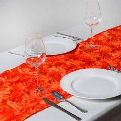 Most Recent Chemin De Table Rosette Orange – Les Couleurs Du Mariage Intended For Candie (View 20 of 25)