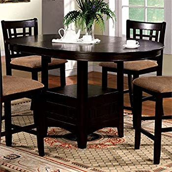 Most Recent Counter Height Pedestal Dining Tables For Amazon – Coaster Hyde Counter Height Square Dining (View 8 of 25)