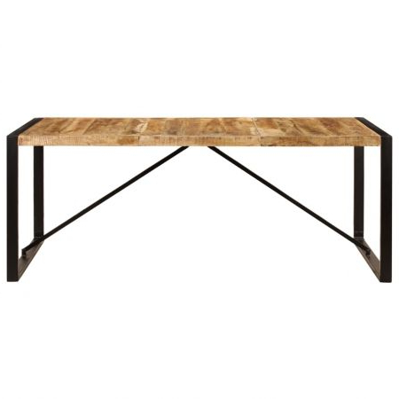 Most Recent Dining Table 200x100x75 Cm Solid Mango Wood (View 23 of 25)