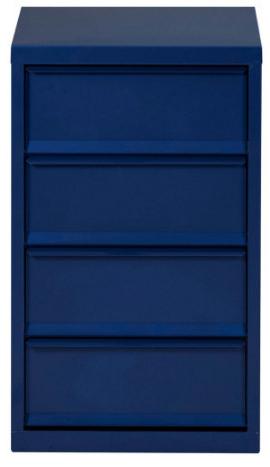 """Most Recent Meuble De Rangement 4 Cases Métal Bleu Nuit Nacré Lebo Pertaining To Mode 72"""" L Breakroom Tables (View 16 of 25)"""