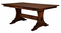 Most Recent Monogram 48'' Solid Oak Pedestal Dining Tables With Amish Rustic Plank Square Dining Table Pedestal Solid Wood (View 15 of 25)