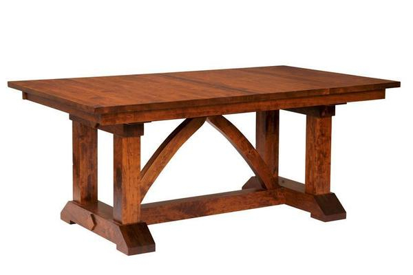 Most Recent Nerida Trestle Dining Tables Intended For Bostonian Trestle Dining Table From Dutchcrafters (View 2 of 25)