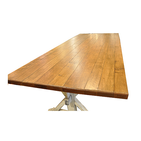 Most Recent Oak Trestle Dining Table – J (View 18 of 25)