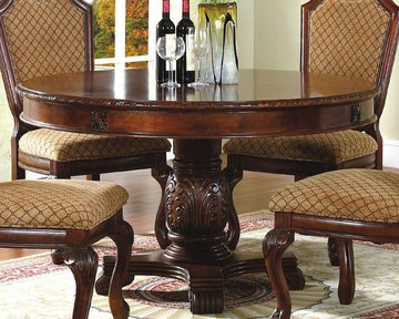 Most Recent *round Pedestal Dining Table In Classic Cherry Mcfd5006 5454 Within Villani Pedestal Dining Tables (View 5 of 25)