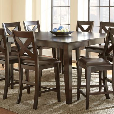Most Recent Shoaib Counter Height Dining Tables In Steve Silver Crosspointe 9 Piece Counter Height Table Set (View 21 of 25)