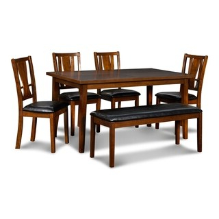 Most Recent Shop Coviar Brown 6 Piece Dining Room Table Set – Free For Dixon 29'' Dining Tables (View 7 of 25)