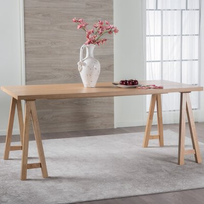 """Most Recent Trent Austin Design® Dillon 35.4"""" Rubberwood Solid Wood Within Akito (View 10 of 25)"""