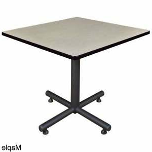 """Most Recently Released 36 Inch Kobe Square Breakroom Table Maple 36"""" 843532017685 Inside Midtown Solid Wood Breakroom Tables (View 11 of 25)"""