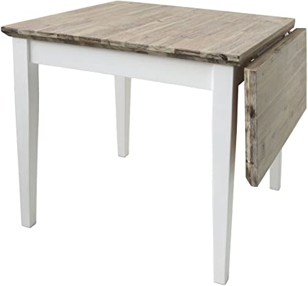 Most Recently Released Cammack 29.53'' Pine Solid Wood Dining Tables Regarding Florence Square Extended Table (75 110cm) (View 6 of 25)