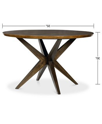 Most Recently Released Dawid Counter Height Pedestal Dining Tables For Furniture Ashton Round Pedestal Dining Table & Reviews (View 17 of 25)
