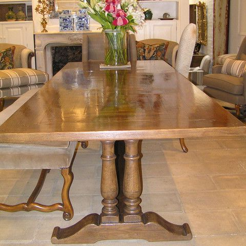 Most Recently Released Double Pedestal Table #diningtable #furniture #homedecor # Pertaining To Getz 37'' Dining Tables (View 10 of 25)