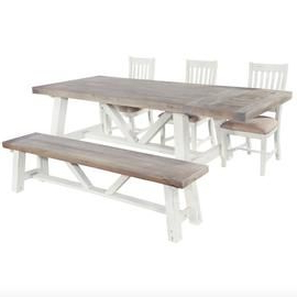 Most Recently Released Hoxton Rustic Oak Trestle Dining Table (View 4 of 25)