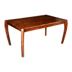 Most Recently Released Mccrimmon 36'' Mango Solid Wood Dining Tables Throughout Cariboo Contemporary Tapered Legs Solid Wood Dining Table (View 2 of 25)