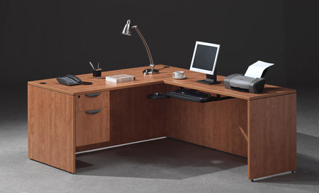 Most Recently Released Mode Square Breakroom Tables Inside Premiera Pl Series L Shaped Desk Single Suspended Pedestal (View 19 of 25)