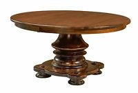 Most Recently Released Monogram 48'' Solid Oak Pedestal Dining Tables With Amish Round Pedestal Dining Table Solid Wood Rustic (View 4 of 25)
