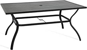 Most Recently Released Nalan 38'' Dining Tables With Regard To Amazon: Ulax Furniture 60'' X 38'' Outdoor Patio (View 25 of 25)