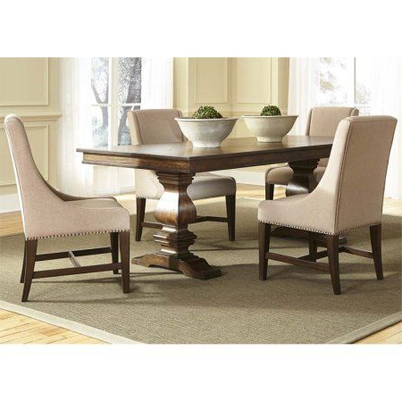 Most Recently Released Nerida Trestle Dining Tables Regarding Liberty Furniture Armand Trestle Dining Table In Antique (View 22 of 25)