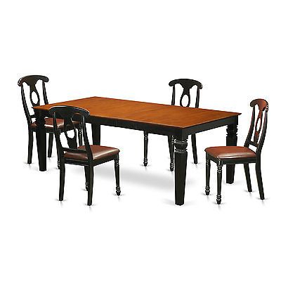 Most Recently Released Neves 43'' Dining Tables Intended For Logan Black And Cherry Finish 5 Piece Dining Table Set (View 8 of 25)