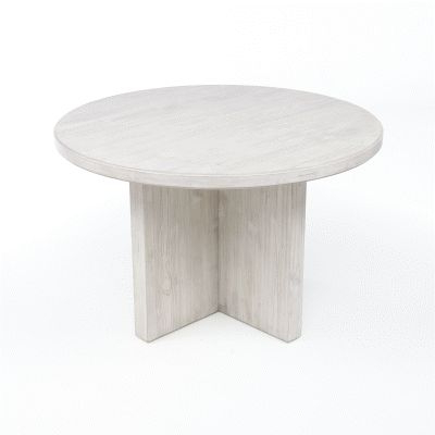 """Most Recently Released Rhiannon Poplar Solid Wood Dining Tables Within Saranda Driftwood Gray 48"""" Round Dining Table (View 15 of 25)"""
