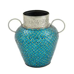 """Most Recently Released Striking Metal Mosaic Vase With Regard To Bentham 47"""" L Round Stone Breakroom Tables (View 16 of 17)"""