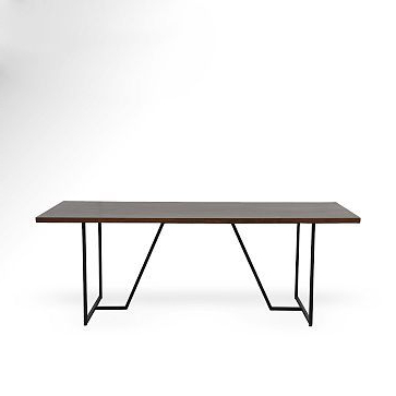Most Recently Released Yaqub 39'' Dining Tables In Geometric Base Dining Table #westelm $ (View 5 of 25)